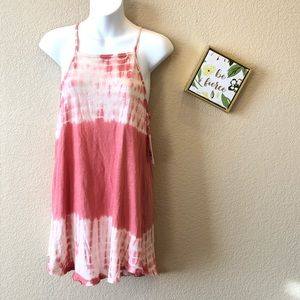 Billabong tie dye pink tank dress new with tags